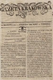 Gazeta Krakowska. 1826, nr27