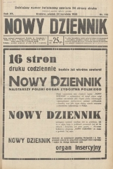 Nowy Dziennik. 1932, nr110