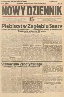 Nowy Dziennik. 1935, nr14