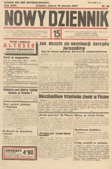 Nowy Dziennik. 1935, nr19
