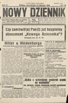 Nowy Dziennik. 1932, nr316