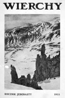 Wierchy : rocznik poświęcony górom i góralszczyźnie. R.11, 1933