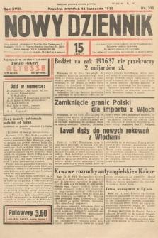 Nowy Dziennik. 1935, nr312
