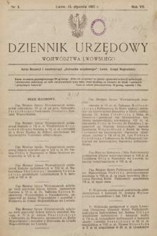 Dziennik Urzędowy Województwa Lwowskiego. 1927, nr1
