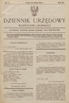 Dziennik Urzędowy Województwa Lwowskiego. 1927, nr3