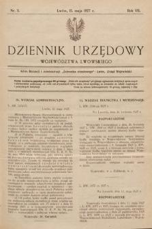 Dziennik Urzędowy Województwa Lwowskiego. 1927, nr5