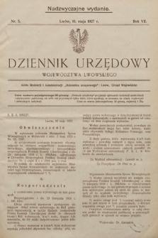 Dziennik Urzędowy Województwa Lwowskiego (wydanie nadzwyczajne). 1927, nr5