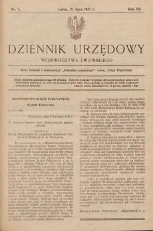 Dziennik Urzędowy Województwa Lwowskiego. 1927, nr7
