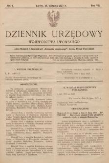 Dziennik Urzędowy Województwa Lwowskiego. 1927, nr8