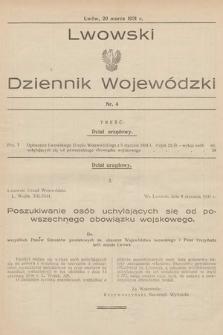 Lwowski Dziennik Wojewódzki. 1931, nr4