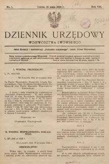 Dziennik Urzędowy Województwa Lwowskiego. 1928, nr1