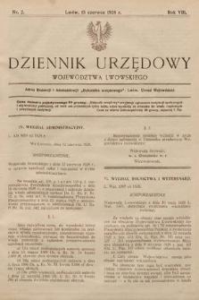 Dziennik Urzędowy Województwa Lwowskiego. 1928, nr2