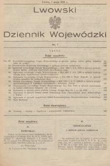 Lwowski Dziennik Wojewódzki. 1931, nr7