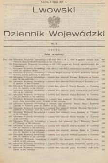 Lwowski Dziennik Wojewódzki. 1931, nr9