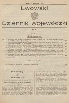 Lwowski Dziennik Wojewódzki. 1931, nr11