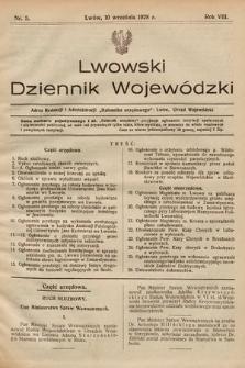 Lwowski Dziennik Wojewódzki. 1928, nr5