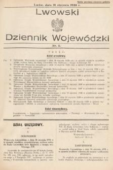 Lwowski Dziennik Urzędowy. 1938, nr2