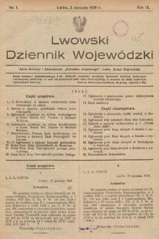 Lwowski Dziennik Wojewódzki. 1929, nr1