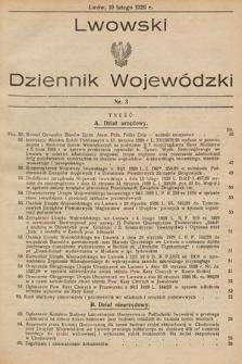 Lwowski Dziennik Wojewódzki. 1929, nr3