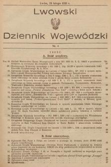 Lwowski Dziennik Wojewódzki. 1929, nr4