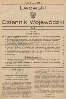 Lwowski Dziennik Wojewódzki. 1929, nr5
