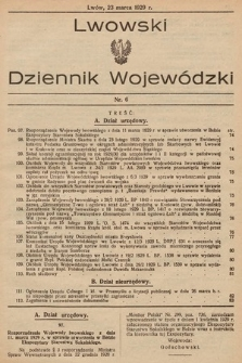 Lwowski Dziennik Wojewódzki. 1929, nr6