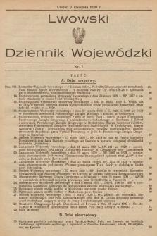 Lwowski Dziennik Wojewódzki. 1929, nr7