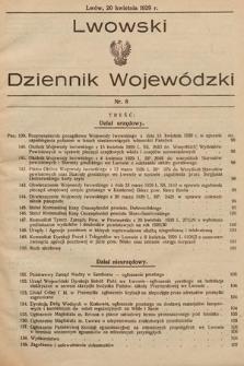Lwowski Dziennik Wojewódzki. 1929, nr8