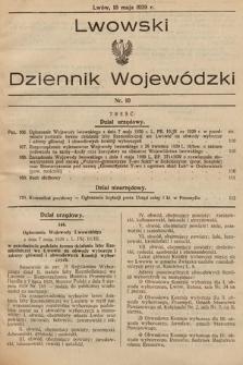 Lwowski Dziennik Wojewódzki. 1929, nr10