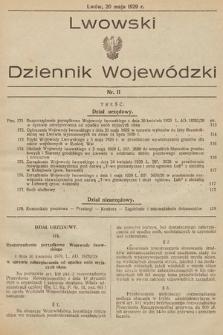 Lwowski Dziennik Wojewódzki. 1929, nr11