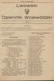 Lwowski Dziennik Wojewódzki. 1929, nr14