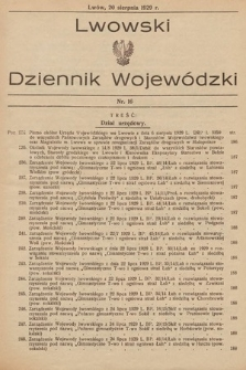 Lwowski Dziennik Wojewódzki. 1929, nr16
