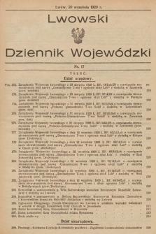 Lwowski Dziennik Wojewódzki. 1929, nr17