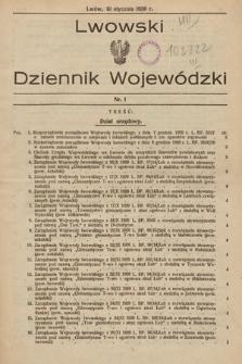 Lwowski Dziennik Wojewódzki. 1930, nr1