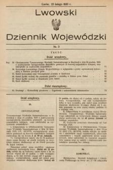 Lwowski Dziennik Wojewódzki. 1930, nr3