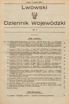 Lwowski Dziennik Wojewódzki. 1930, nr4