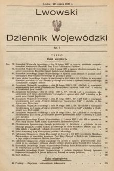 Lwowski Dziennik Wojewódzki. 1930, nr5