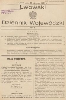 Lwowski Dziennik Wojewódzki. 1939, nr2
