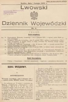 Lwowski Dziennik Wojewódzki. 1939, nr3