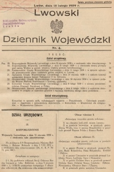 Lwowski Dziennik Wojewódzki. 1939, nr4