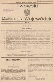 Lwowski Dziennik Wojewódzki. 1939, nr6