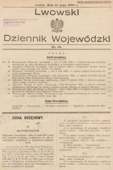 Lwowski Dziennik Wojewódzki. 1939, nr10