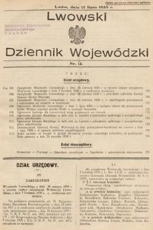 Lwowski Dziennik Wojewódzki. 1939, nr14