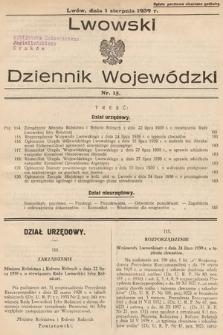 Lwowski Dziennik Wojewódzki. 1939, nr15