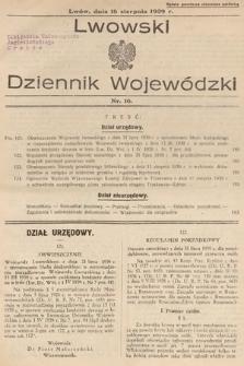 Lwowski Dziennik Wojewódzki. 1939, nr16