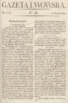 Gazeta Lwowska. 1823, nr96