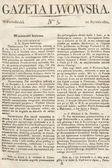 Gazeta Lwowska. 1824, nr5
