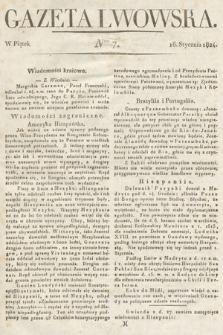 Gazeta Lwowska. 1824, nr7