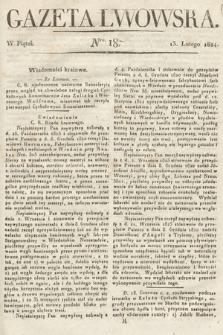 Gazeta Lwowska. 1824, nr18