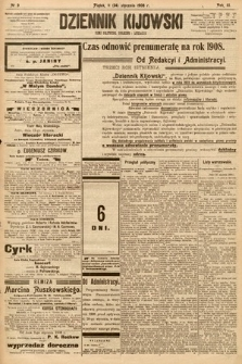 Dziennik Kijowski : pismo społeczne, polityczne i literackie. 1908, nr9